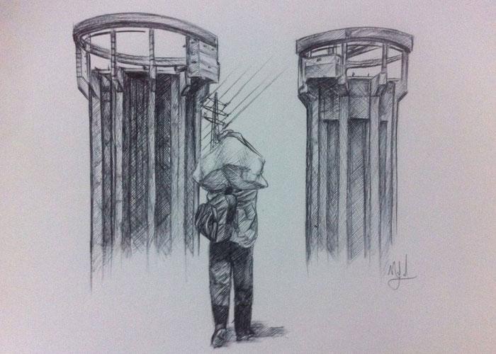 El horror paramilitar pintado por una niña artista paisa