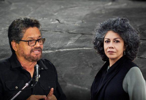 El agarrón de Doris Salcedo con Iván Márquez por la escultura con las armas de las Farc
