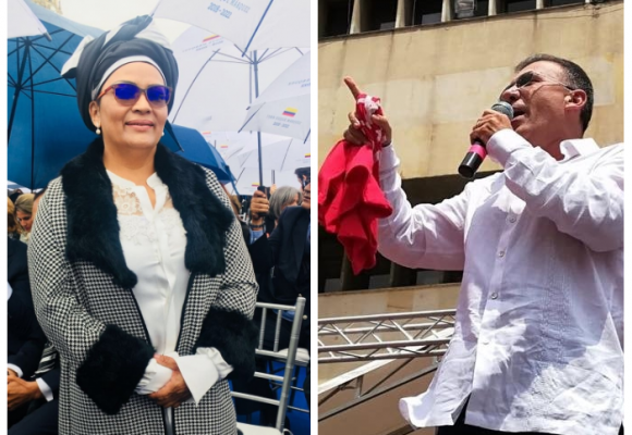 Roy Barreras y Victoria Sandino se retiran del recinto, otros indignados se expresaron en redes