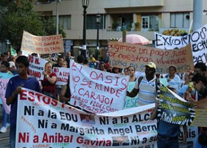 Habitantes desarraigados en Medellín marcharon por sus derechos