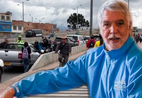Peñalosa critica a periodistas porque registraron su caravana de carros mal parqueada