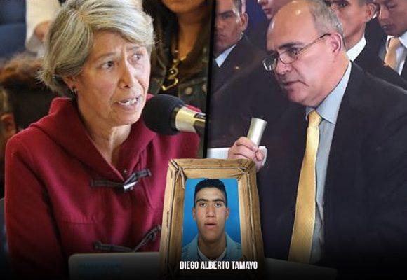 El doloroso cara cara del coronel, asesino de Diego Tamayo, y su mamá en la JEP