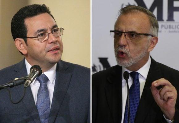 K.O. de Iván Velásquez al presidente de Guatemala