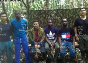 Libres los 6 secuestrados que tenía el ELN en el Chocó