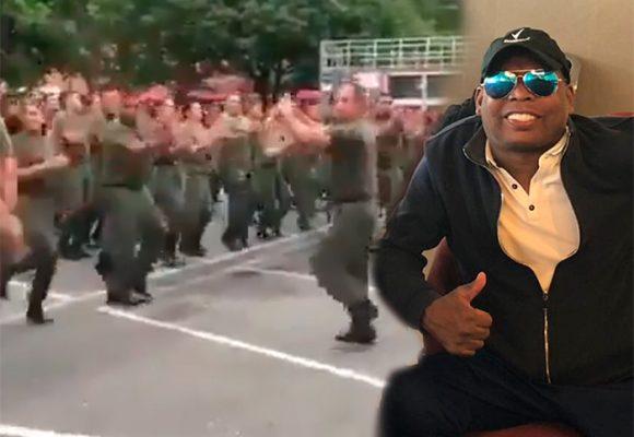 VIDEO: La burla del Tino Asprilla al Ejército venezolano
