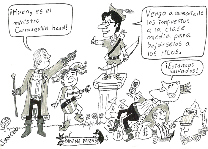 Caricatura: Carrasquilla Hood