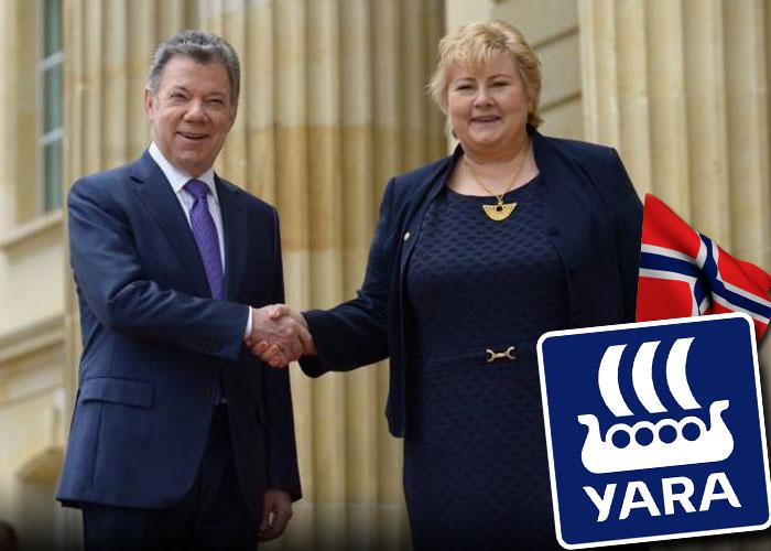 Noruegos en Colombia, paz pero también negocios