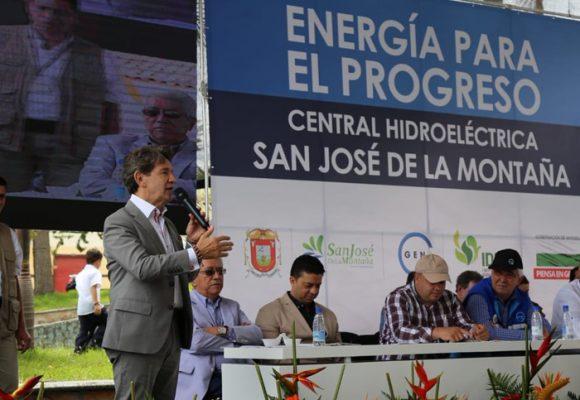 Central hidroeléctrica de San José de la Montaña ya prendió sus turbinas
