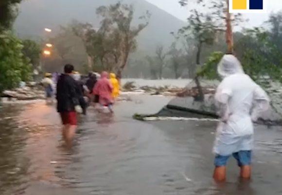 VIDEO: Los estragos en Hong Kong que causó el Tifón Mangkhut