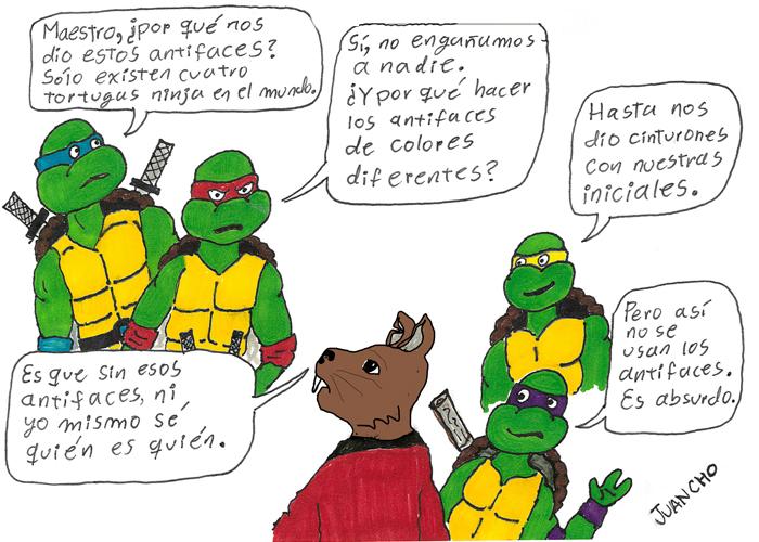 Caricatura: una charla en la alcantarilla