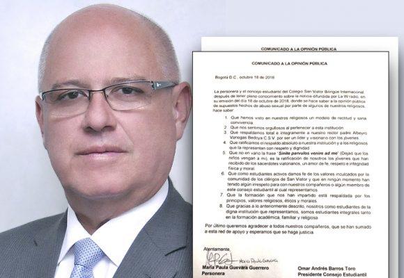 Salvavidas al rector del colegio San Viator de Bogotá acusado de abuso sexual