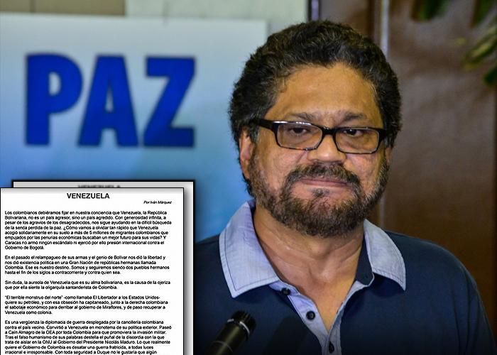 Iván Márquez reaparece con un propósito: Defender a Maduro