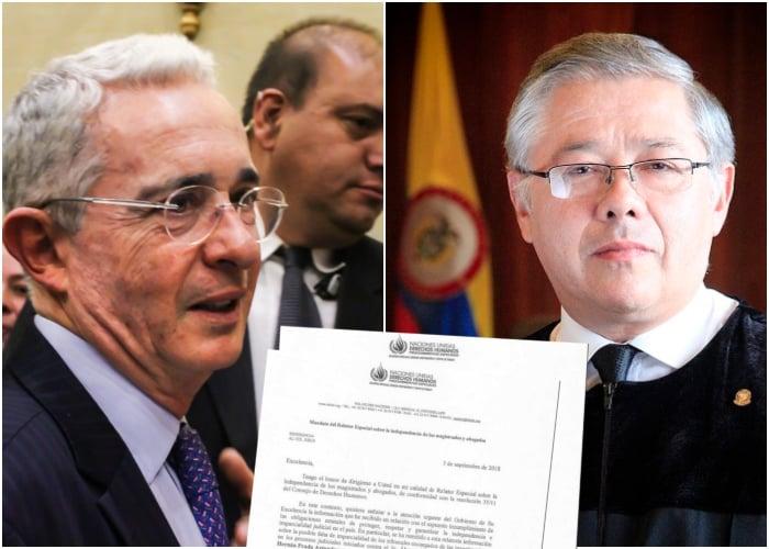 Banderillazo de la ONU a la Corte Suprema por caso Uribe