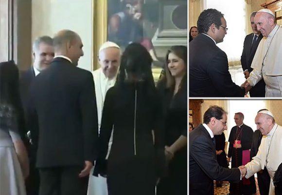 Video: Duque de visita al Papa con mamá, suegra y amigos