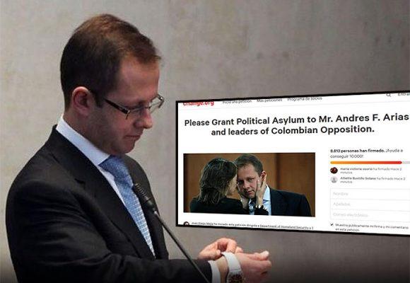 Se disparan las firmas pidiendo el asilo para Andrés Felipe Arias