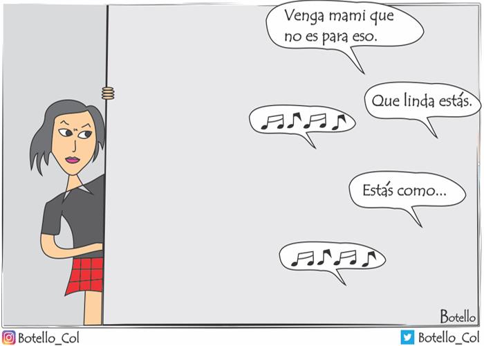 Caricatura: acoso callejero