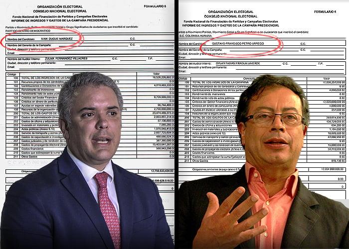 ¿De dónde sacaron Duque y Petro los más de $33 mil millones que costaron sus campañas?