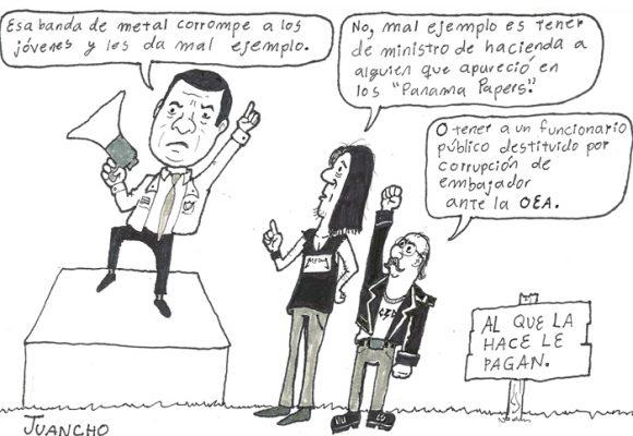 Caricatura: el verdadero mal ejemplo