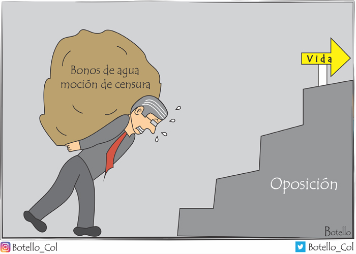 Caricatura: la carga de Carrasquilla