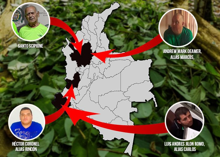 Las cuatro mafias mundiales que se pelean la apetecida coca colombiana