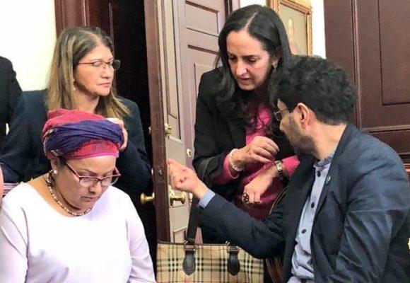 La foto imposible: María Fernanda Cabal dialogando con la excomandante Victoria Sandino