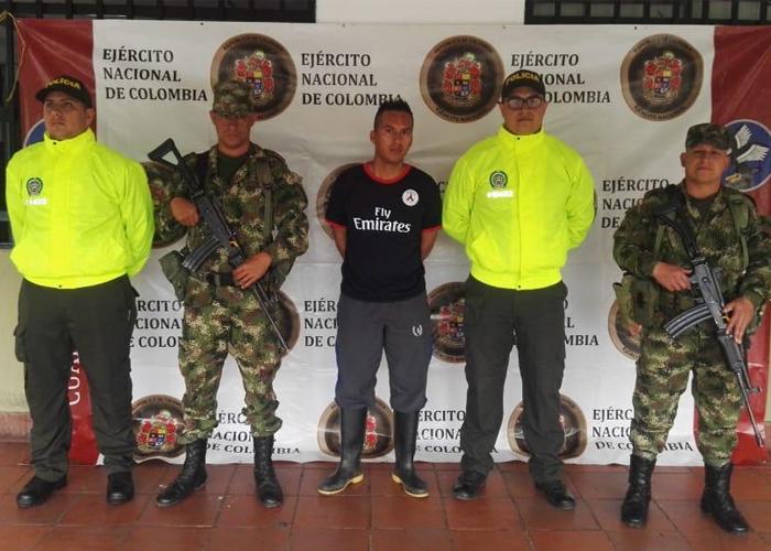 En Amalfi, Ejército Nacional capturó a peligroso cabecilla del GAO Eln