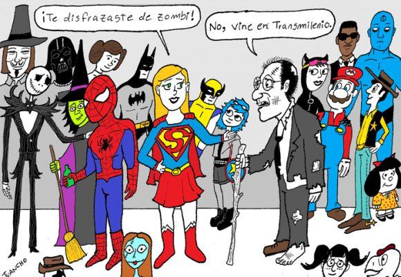 Caricatura: fiesta de disfraces