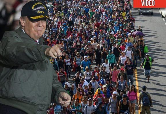 VIDEO: Siete mil hondureños avanzan hacia la frontera, Trump no piensa dejarlos entrar