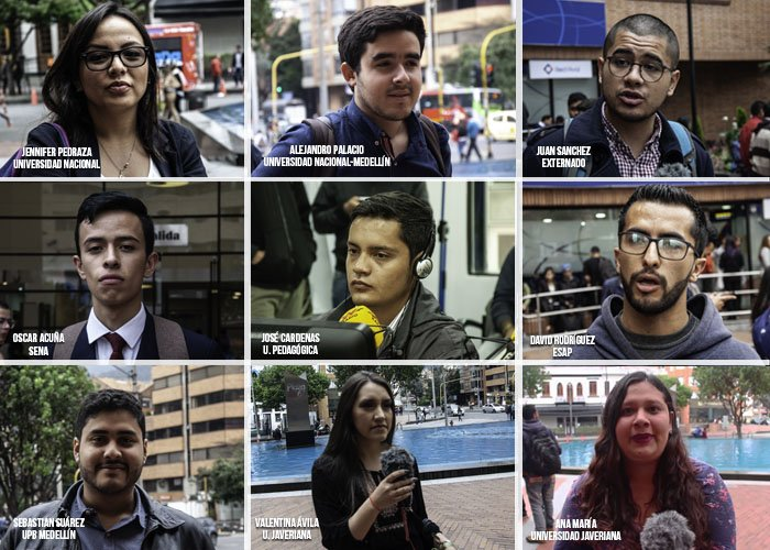 Las caras jóvenes que van a poner a marchar a Colombia