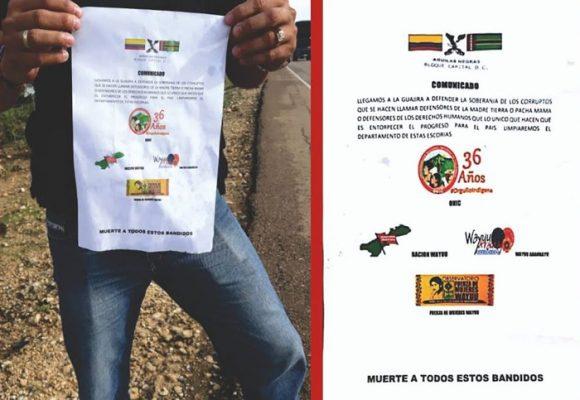 Más amenazas de muerte en contra de organizaciones wayúu
