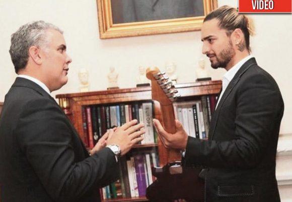 """Gracias señor Presidente por estos momentos tan especiales"": Maluma"