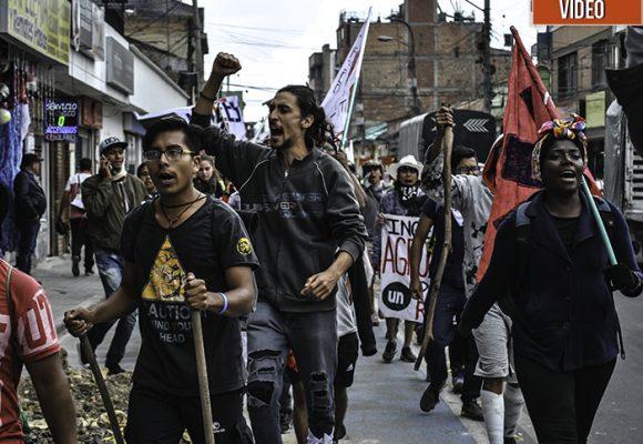 Los marchantes de la Línea llegaron a Bogotá