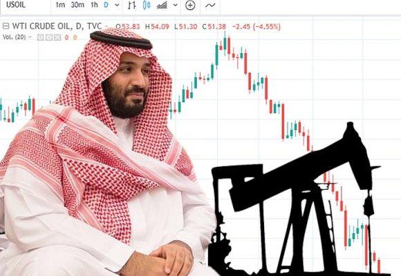 Desplome en precio del petróleo por incremento de producción saudí