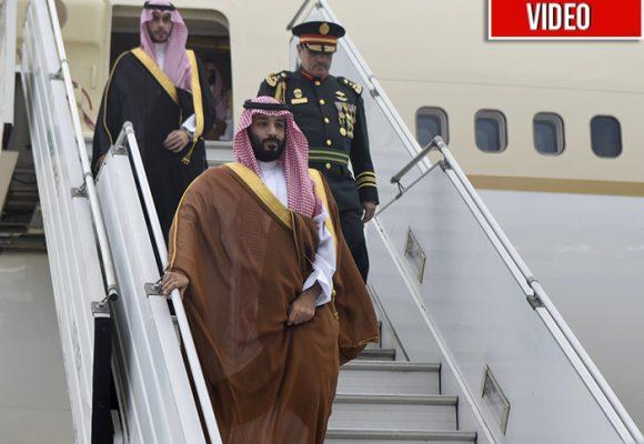 La ampulosa llegada del príncipe árabe señalado de matar a Khashoggi
