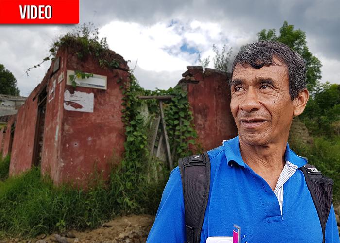 Farid: el guardián de la memoria de la guerra en Caldono