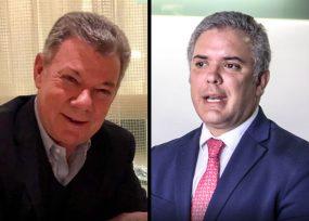 Santos reaparece políticamente para irse contra Duque