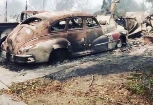 Video: La devastación tras los incendios en California