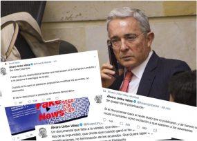 Los trinos de Álvaro Uribe que sacaron de cartelera el documental 'La Negociación'
