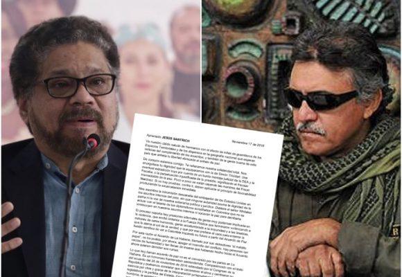 Nueva carta de Iván Márquez a Jesús Santrich