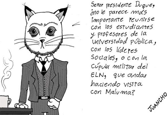 Caricatura: prioridades presidenciales