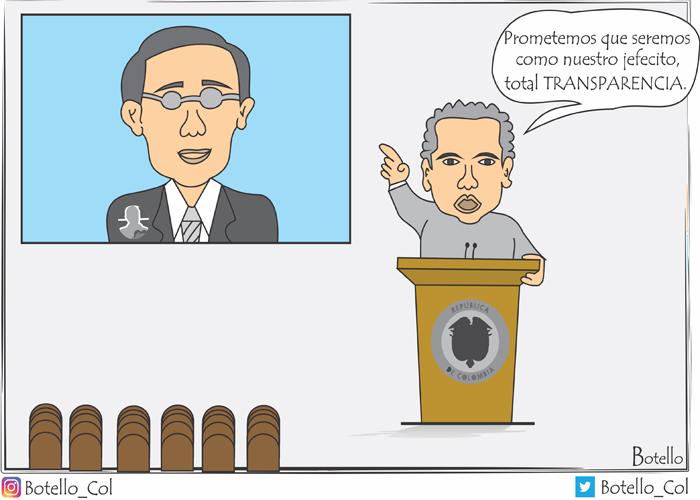 Caricatura: Duque y sus ocurrencias...