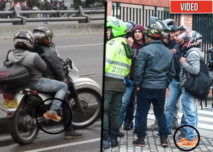 Así se movían los infiltrados de la Policía para romper la marcha estudiantil