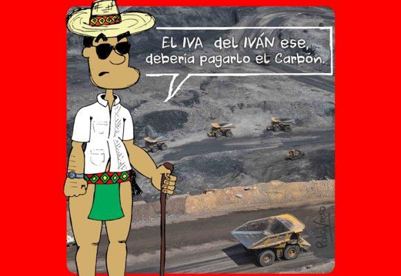 Caricatura: ¿y si el carbón nos financia en lugar del IVA?