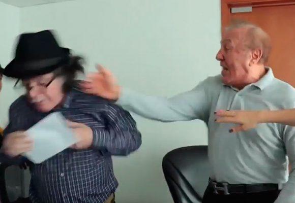 [Video] A golpes le respondió Alcalde de Bucaramanga a un concejal por decirle corrupto