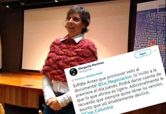 La directora de La Negociacion señala a Uribe de haber promovido el veto