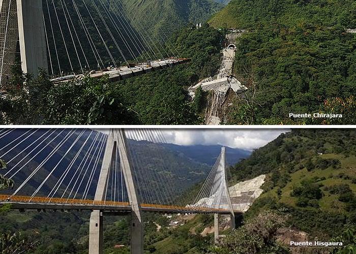 Chirajara e Hisgaura: dos puentes fallidos y un mismo ingeniero diseñador