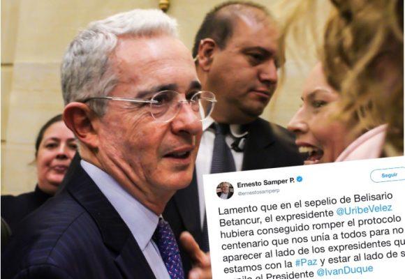 La movida de Uribe en el sepelio de Belisario Betancur