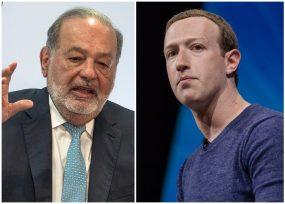 El dueño de Facebook y el mexicano Carlos Slim, los perdedores en el 2018