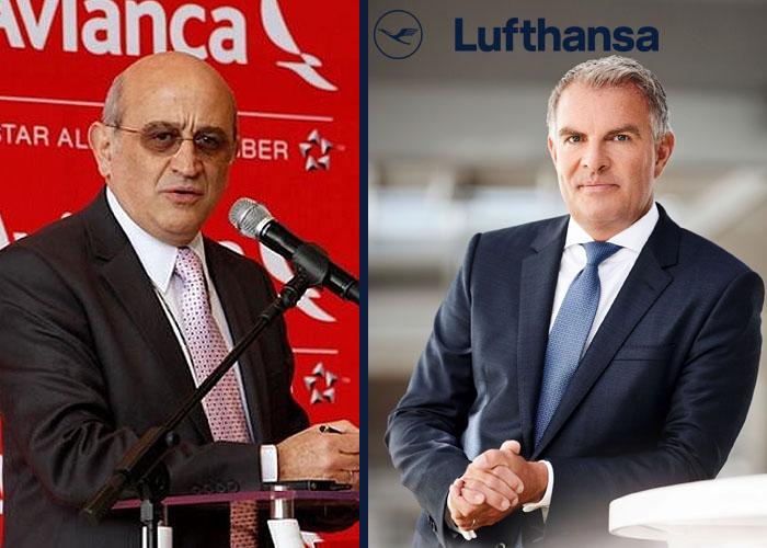 Abrazo de reconciliación entre Avianca y Lufthansa