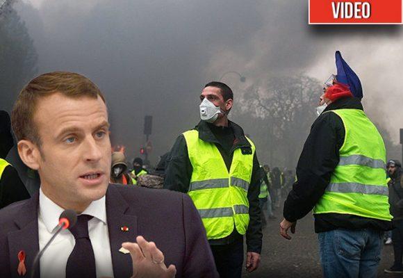 VIDEO. Cantando, los chalecos amarillos celebran su triunfo sobre Macron